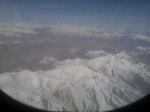View from the flight